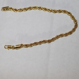 Estate Find 14K Rope Bracelet